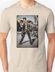 Elvis Han Solo Collage Art Home Decor, Elvis Presley, Star Wars, Harrison Ford, Millenium Falcon, Death Star T-Shirt