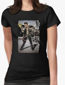 Elvis Han Solo Collage Art Home Decor, Elvis Presley, Star Wars, Harrison Ford, Millenium Falcon, Death Star Womens Fitted T-Shirt