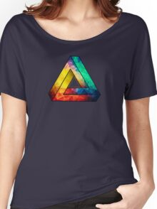 Abstract Multi Color Cubizm Painting Women's Relaxed Fit T-Shirt