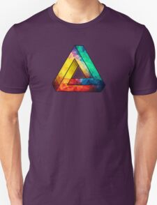 Abstract Multi Color Cubizm Painting Unisex T-Shirt