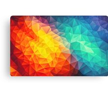 Abstract Multi Color Cubizm Painting Metal Print