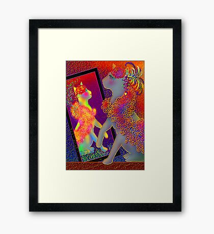 'When I Was Young I was Beautiful', Cat's cat Framed Print