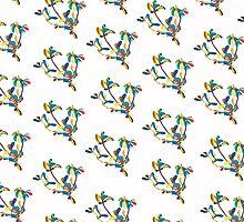 Purslane Portulaca Pattern by Kat Barker