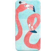 Whimsical Flamingo Couple iPhone Case/Skin