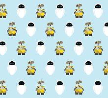 Wall-E & Eve Pattern by Jonathan Marin