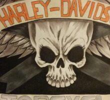 HARLEY DAVIDSON SKULL AND WINGS  Sticker