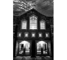 Spooky Church Photographic Print