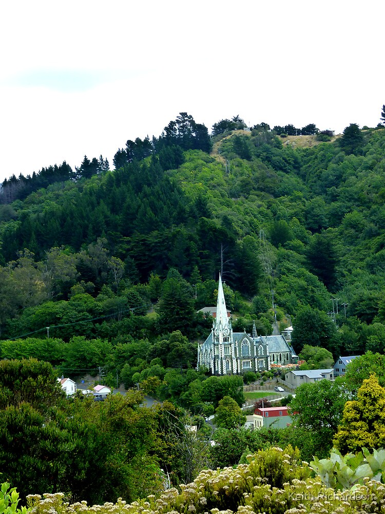 Early Scotts Church, Port Chalmers, NZ. by Keith Richardson