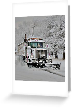 Neighborhood Snow Plow by Carin Fausett