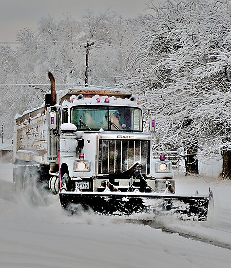 Neighborhood Snow Plow by Carin Fausett