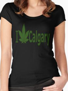 0024 I Love Calgary Women's Fitted Scoop T-Shirt