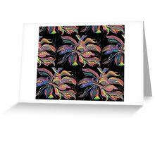 Crayon Plantain Pattern(large) Greeting Card