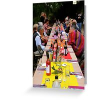 Shared Table Greeting Card