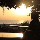 Girl in a Cyprus cafe. by erwina