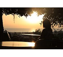 Girl in a Cyprus cafe. Photographic Print