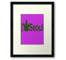 0038 I Love Seoul  Framed Print