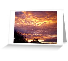 The mother of all sunsets.......... Greeting Card