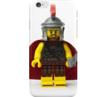 Roman gladiator minifig with a helmet and sword and cape iPhone Case/Skin
