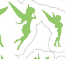 Flying Green Fairy Sticker