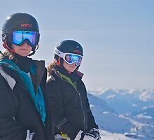 Stasia and Beth on Top of Blackcomb by ScottPhotos