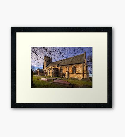 St Peter's & St Paul's Church in  Barnby Dun Framed Print