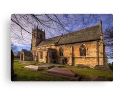 St Peter's & St Paul's Church in  Barnby Dun Canvas Print