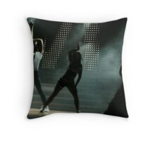 Dancers Silhouetted against Stairs and White Spotlights. Throw Pillow