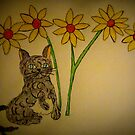 Fat Cat And The Daisey's by Linda Miller Gesualdo