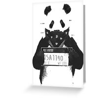 Bad Banksy Panda Greeting Card