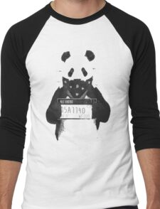 Bad Banksy Panda Men's Baseball ¾ T-Shirt
