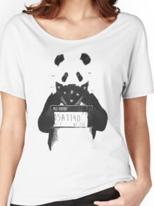 Bad Banksy Panda Women's Relaxed Fit T-Shirt