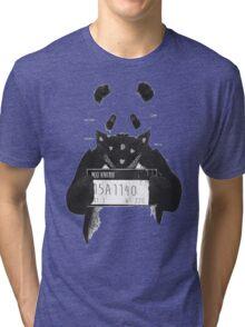 Bad Banksy Panda Tri-blend T-Shirt
