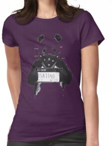 Bad Banksy Panda Womens Fitted T-Shirt