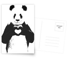 All You Need is Love Banksy Panda Postcards