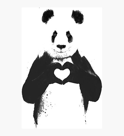 All You Need is Love Banksy Panda Photographic Print