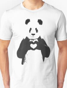 All You Need is Love Banksy Panda T-Shirt