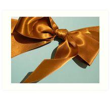 Silky Ribbon Bow Art Print