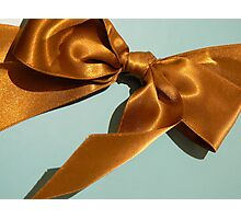 Silky Ribbon Bow Photographic Print