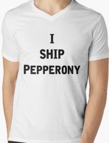 I Ship Pepperony Mens V-Neck T-Shirt