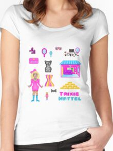 Pixel Trixie Mattel Women's Fitted Scoop T-Shirt