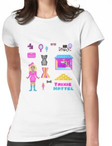 Pixel Trixie Mattel Womens Fitted T-Shirt