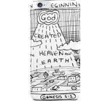 GENESIS 1:1 IN THE BEGINNING iPhone Case/Skin