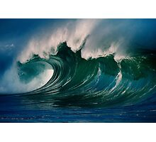 Winter Waves At Waimea Bay 2 Photographic Print