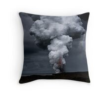 Kilauea Volcano at Kalapana 3a Throw Pillow