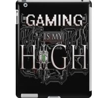 Gaming is my HIGH - White text Transparent iPad Case/Skin