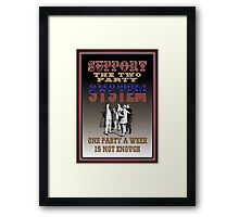Two Party System Framed Print