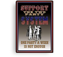 Two Party System Canvas Print