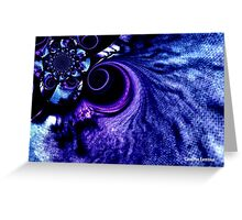 Dark Blue Whirlpool in Space Greeting Card