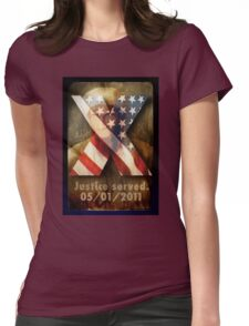 Justice Served. Womens Fitted T-Shirt