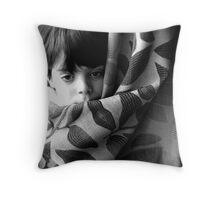 Hiding curtain  Throw Pillow